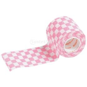 包帯ロール 弾性包帯 自己接着 包帯 粘着ラップ テープ 便利 全2色3サイズ選べる - ピンク, 2インチ