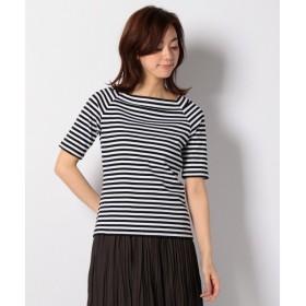 any FAM / エニィファム リブボーダー Tシャツ