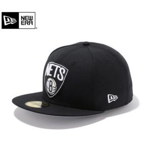 【メーカー取次】 NEW ERA ニューエラ 59FIFTY NBA ブルックリン・ネッツ プライマリーロゴ ブラック 11308684 キャップ ブランド