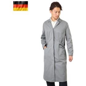 実物 ドイツ軍 グレー ショップコート USED メンズ アウター ミリタリー ジャケット ロング 軍用