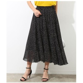 ROPE' / ロペ 【2WAY】ドットプリントギャザースカート