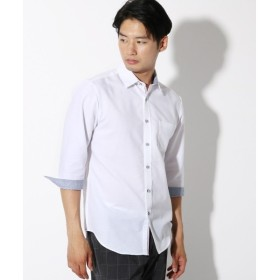 THE SHOP TK / ザ ショップ ティーケー 【吸水速乾】【セオアルファ糸採用】7分袖シャツ