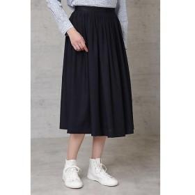 HUMAN WOMAN / ヒューマンウーマン タック刺繍スカート