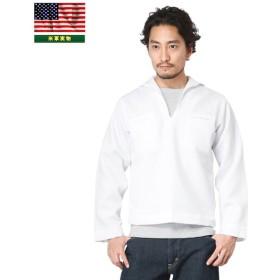 実物 新品 米海軍 プルオーバー セーラーシャツ WHITE(MAN'S JUMPER) メンズ ミリタリー 長袖 デッドストック 放出品 アメリカ軍 軍服