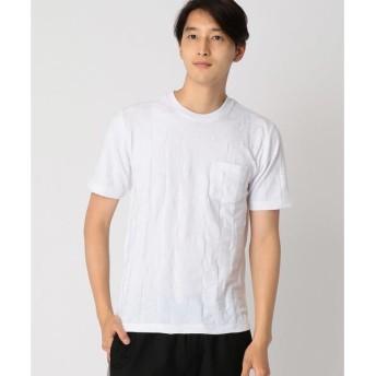 COMME CA ISM / コムサイズム ジャカード Tシャツ