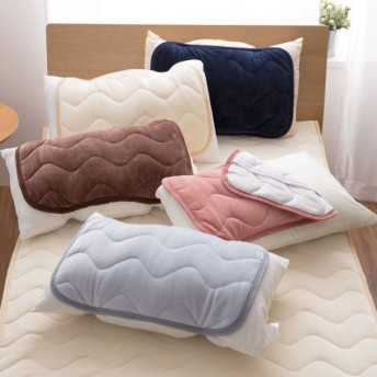 布団カバー シーツ 敷きパッド パッドシーツ うっとりなめらかパフ 敷きパッド 枕パッド mofua アイボリー 枕パッド
