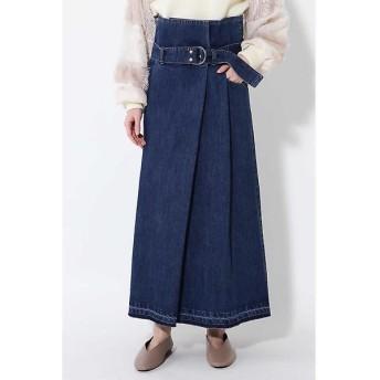 ROSE BUD / ローズ バッド サッシュベルト付きハイウエストスカート