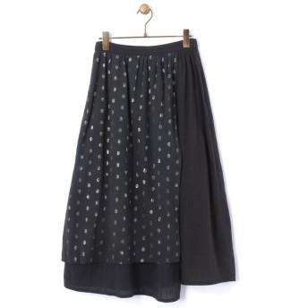 BEARDSLEY / ビアズリー 綿ジャガードMIXスカート