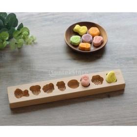 木製月餅模具 月餅の型 月餅モールド お菓子 クッキー型 お菓子 ベーキング 型 全20様式選ぶ - 様式1