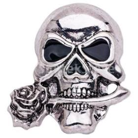 ノーブランド品 ヴィンテージ ゴシックパンク スカルのブローチ ブローチピン ハロウィーンの宝石 インテリア