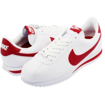 NIKE CORTEZ BASIC LEATHER ナイキ コルテッツ ベーシック レザー WHITE/GYM RED