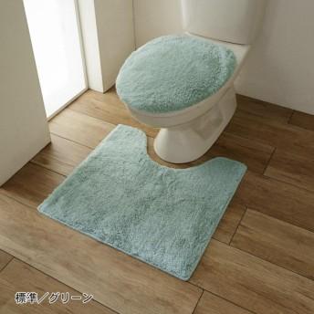 トイレマット トイレマットのみ おしゃれ 北欧 標準 ふかふか ふわふわ 抗菌 防臭 日本製 グリーン 標準(マット単品)