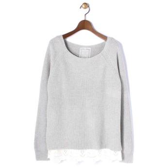 BEARDSLEY / ビアズリー 裾刺繍インナーニット