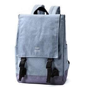 バッグ カバン 鞄 レディース リュック 高密度杢調ポリエステル リュック カラー デニム