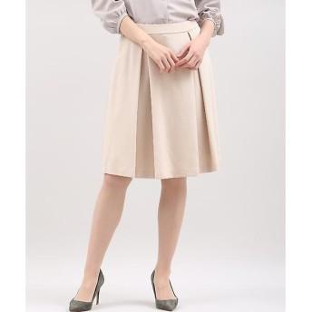 CLEAR IMPRESSION / クリアインプレッション グログランポンチタックフレアスカート