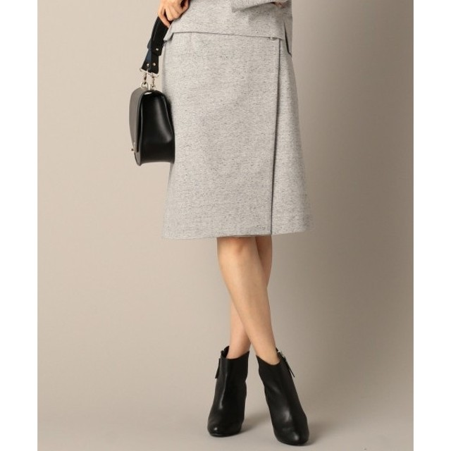 L size ONWARD(大きいサイズ) / エルサイズオンワード 【セットアップ対応】ファンシーネップジャージー スカート