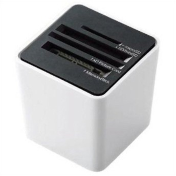 エレコム 44メディア対応 メモリリーダライタ 縦挿しタイプ ホワイト MR-C14WH