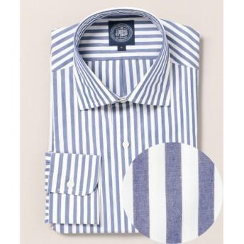 J.PRESS / ジェイプレス 高密度ポプリン ロンドンストライプワイドカラーシャツ