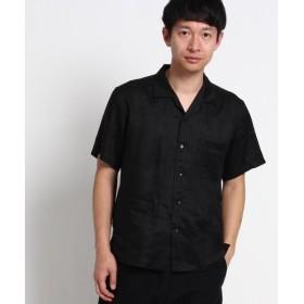 THE SHOP TK / ザ ショップ ティーケー 【ノルマンディーリネン】オープンカラー半袖シャツ