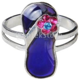ノーブランド品 変色指輪 色変化ムードリング 調整可能
