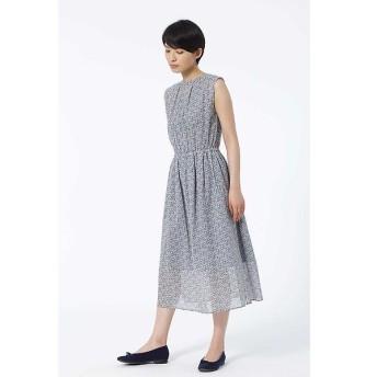 HUMAN WOMAN / ヒューマンウーマン リバティープリント ギャザーロングドレス