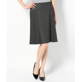 L size ONWARD(大きいサイズ) / エルサイズオンワード 【セットアップ対応】T/Rドビーストライプ スカート