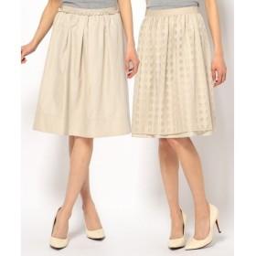 S size ONWARD(小さいサイズ) / エスサイズオンワード チェックチュールリバータフタ 2WAYスカート