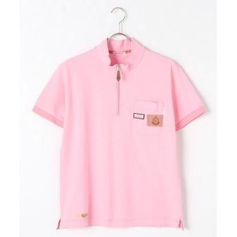 PINK HOUSE / ピンクハウス ニャイスオン刺繍ハーフジップポロシャツ