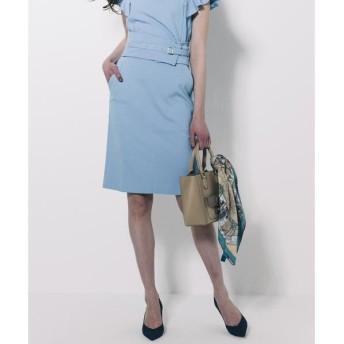 Viaggio Blu / ビアッジョブルー 【セットアップ対応】コルセットベルト付きパールニットタイトスカート