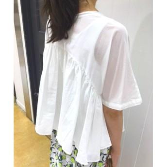NIMES / ニーム コットンシルク裾フレアブラウス
