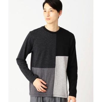 COMME CA ISM / コムサイズム パッチワークTシャツ