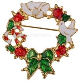 カラフル 花輪型 ファッション クリスマス花輪  お祝い クリスマス用  ブローチ パーティー 贈り物
