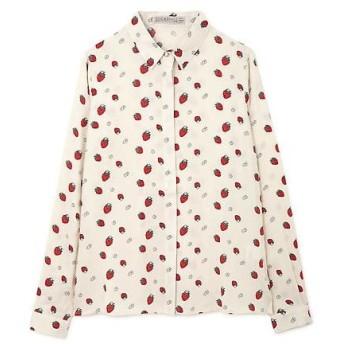 ROSE BUD / ローズ バッド ストロベリープリントシャツ