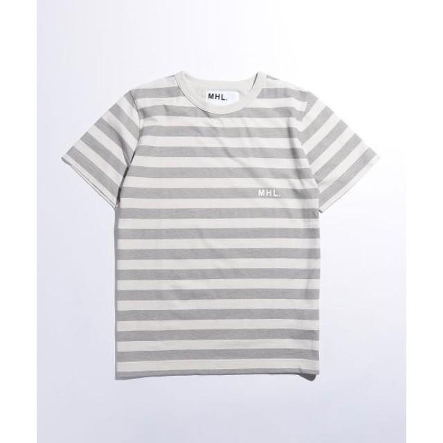 BEAUTY&YOUTH UNITED ARROWS / ビューティ&ユース ユナイテッドアローズ <MHL.> 17 LOGO BORDER TEE/Tシャツ