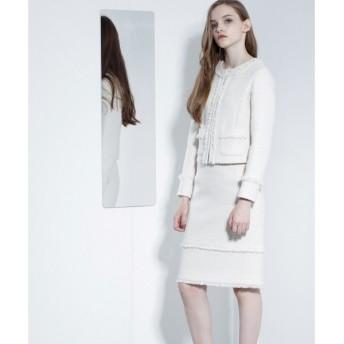 GRACE CONTINENTAL / グレースコンチネンタル ツィードタイトスカート