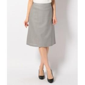 J.PRESS / ジェイプレス 【セットアップ】T/Wモヘヤ ヘリンボン スカート