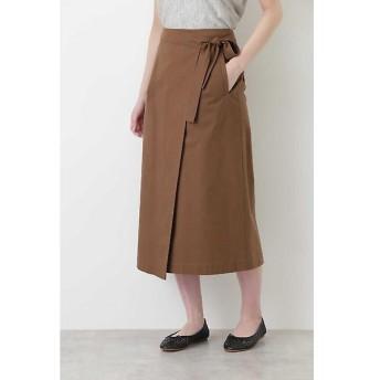HUMAN WOMAN / ヒューマンウーマン グログランストレッチラップスカート