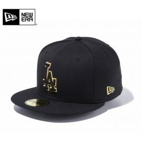 【メーカー取次】 NEW ERA ニューエラ 59FIFTY MLB ロサンゼルス・ドジャース ブラックXブラック ゴールドアウトライン 11434026 キャップ