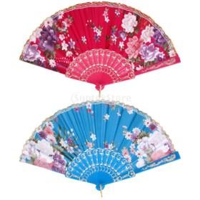 扇子 ダンス道具 ファン 花火大会 夏さ対策 祭り 浴衣小物 全14選択 - タイプ5