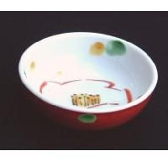2101 赤巻椿文様小鉢