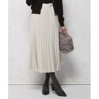組曲 / クミキョク 【MORE12月号掲載/洗える】ヴィンテージサテンプリーツ スカート