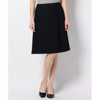 S size ONWARD(小さいサイズ) / エスサイズオンワード 【セットアップ対応】エアリーモールツイード フレアスカート