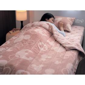 毛布 ディズニー プレミアムな触り心地のわた入り毛布 ピンク シングル