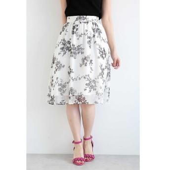 PROPORTION BODY DRESSING / プロポーションボディドレッシング  ◆フラワーブーケプリントスカート