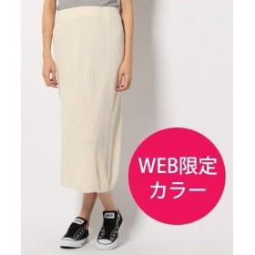 any SiS / エニィスィス (L'aube)【WEB限定&洗える】リブニット スカート