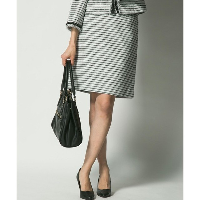 J.PRESS / ジェイプレス ラメボーダーツイード スカート