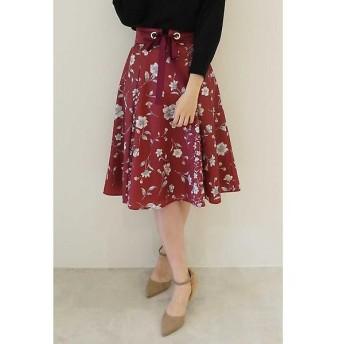 PROPORTION BODY DRESSING / プロポーションボディドレッシング  ベルト付きフラワーブロッキングスカート