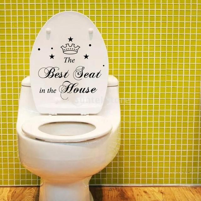 ホーム トイレ 洗面所 壁用 PVC ステッカー デコレーション インテリア DIY ベストシート 文字パターン