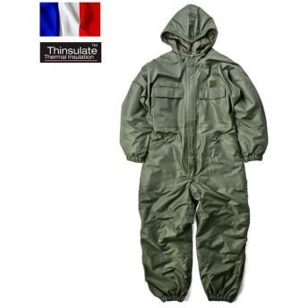 実物 新品 フランス軍 PROLINE HOODED カバーオール Thinsulate つなぎ メンズ 中綿入り 作業着 作業服 シンサレート 軍用 デッドストック