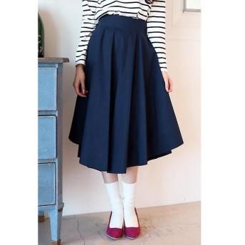 N.Natural Beauty Basic / エヌ ナチュラルビューティーベーシック 取外しベルト付イレギュラーヘムタイプライタースカート